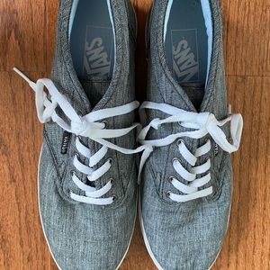 Gray lace up VANS sneakers